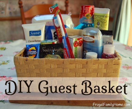 Diy Guest Basket Why Not Guest Rooms And Keep In
