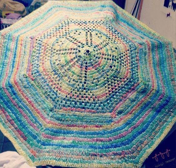 Plastic Bag #crochet Umbrella