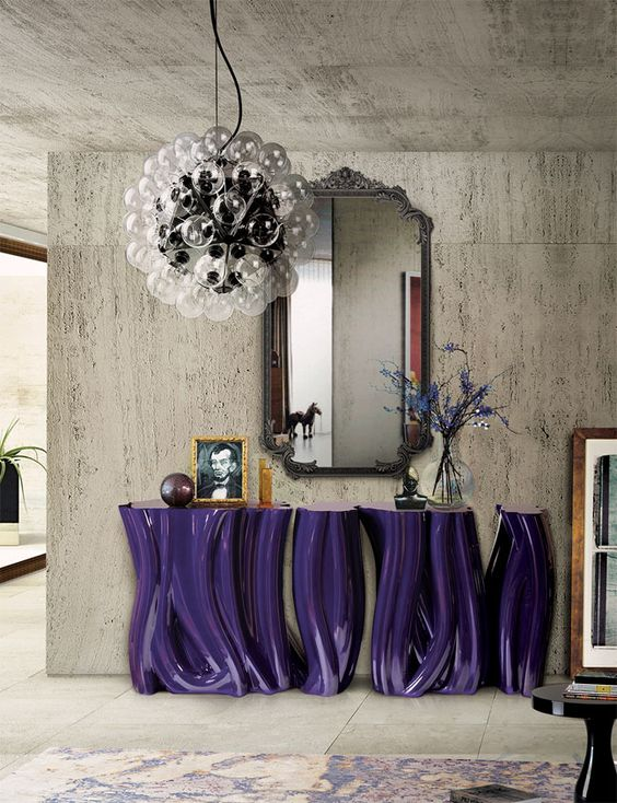 Monochrome Lacquered Console Table by Boca do Lobo lacquered console tables 6 Stunning Lacquered Console Tables for A Trendy Interior eb392fb08395389eed6dd89d953e0535