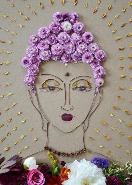 """Buddha II"" Flower Face Print:"