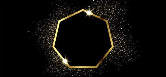 Golden Sparkling Frame In Square Shape On Black Background Pink Background Images Dark Blue Background Black Background Images