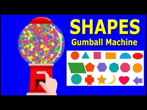 Learn Shapes with Gumball Machine, Teach Shapes, Baby Children Kids Learning Videos by Baby Rhymes - YouTube