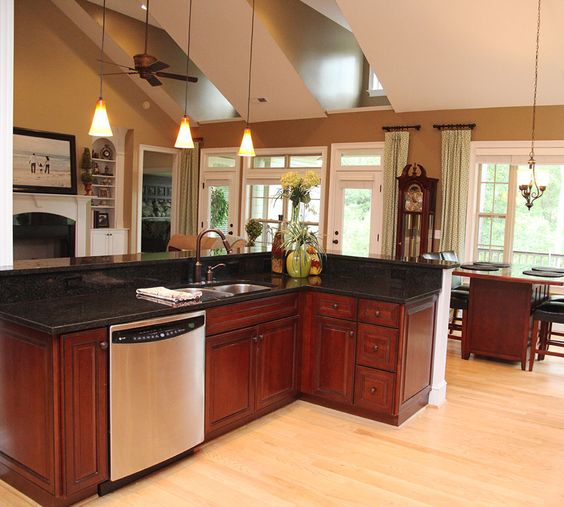 Ceiling Treatments Vaulted Ceilings And Open Kitchens On