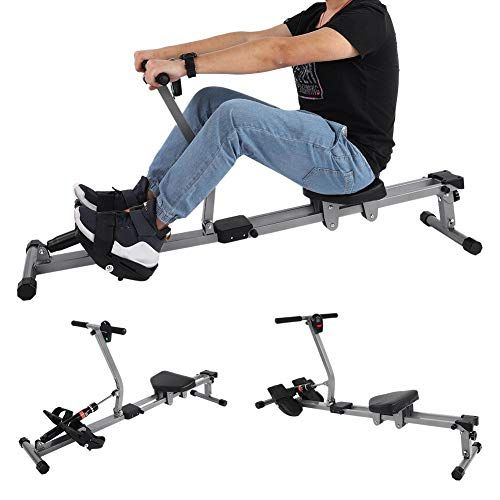 Rowing Machine Folding 12 Level Resistance LCD Monitor Cardio New