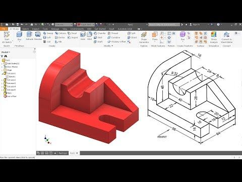 Autodesk Inventor Tutorial For Beginners Exercise 1 Autodesk Inventor Solidworks Tutorial Inventor