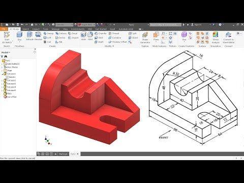 Autodesk Inventor Tutorial For Beginners Exercise 1 Autodesk Inventor Solidworks Tutorial Inventor