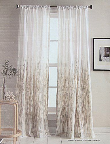 DKNY Whitestone Branches Road Pocket Curtains 100% Cotton 50 by 96 ...