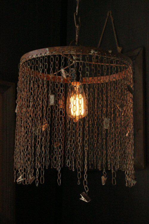 Industrial Cage Pendant Lighting Rustic Chandelier by LightLady