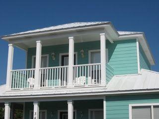 Beach house exterior pastel color schemes beach house pinterest beach cottages beach for Beach house exterior colour schemes