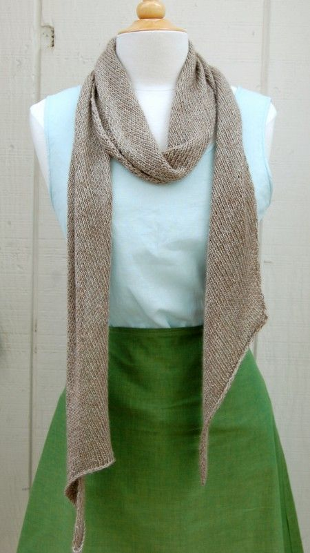 Bias 'Before & After' Scarf knit with Blue Sky's Metalico yarn.