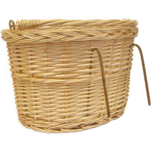Wicker Bike Basket With Handle : Bike bicycle wicker ping picnic basket and handle