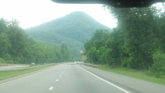 On our way to Ashville to get clay! Gorgeous mountains!!!