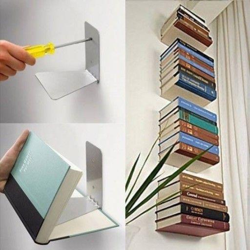 Niewidzialna Polka Na Ksiazki 7839798444 Oficjalne Archiwum Allegro Wall Bookshelves Bookshelves Diy Shelf Decor Living Room