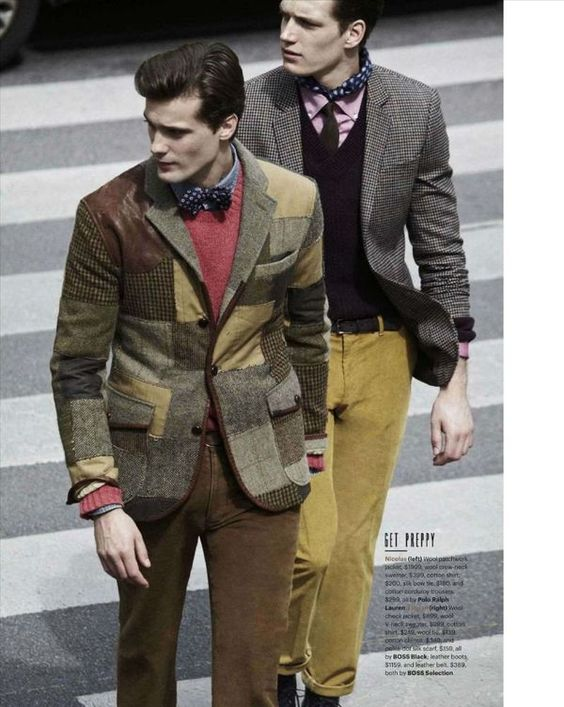 Bow tie & tweed in GQ FW12 issue