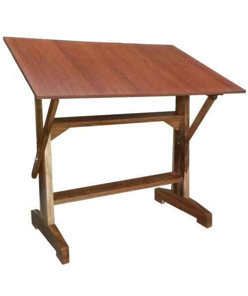 Mesa para dibujo madera de laurel de 120 x 80 cm mesa de for Restirador de madera