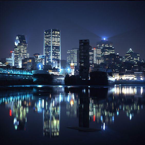 Nuit à Montréal (Québec) - Montreal at night (Quebec):