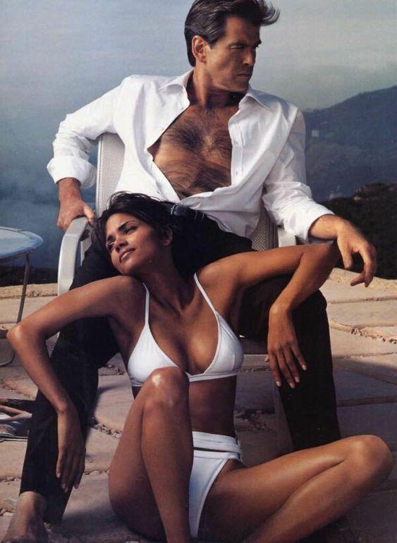 Pierce Brosnan and Halle Berry by Annie Leibovitz for Vogue December 2002.