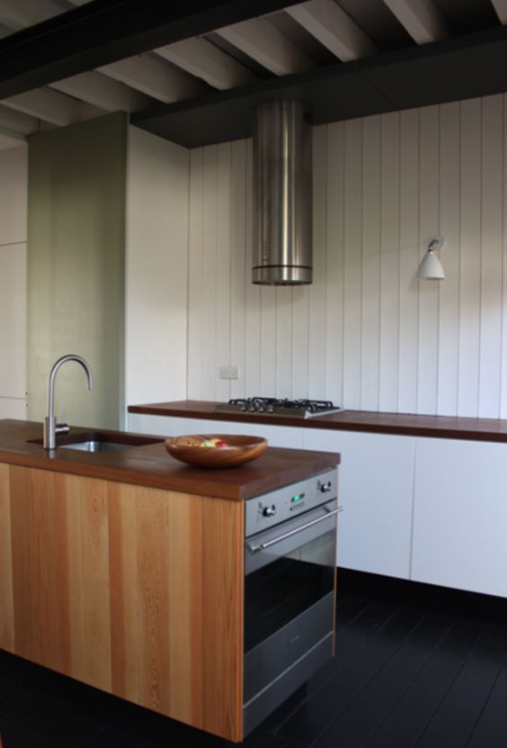 Nice use of timber panelling in a kitchen by my friends Blee Halligan Architects