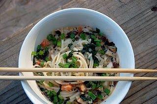 Creamy Veggie and Shrimp Udon