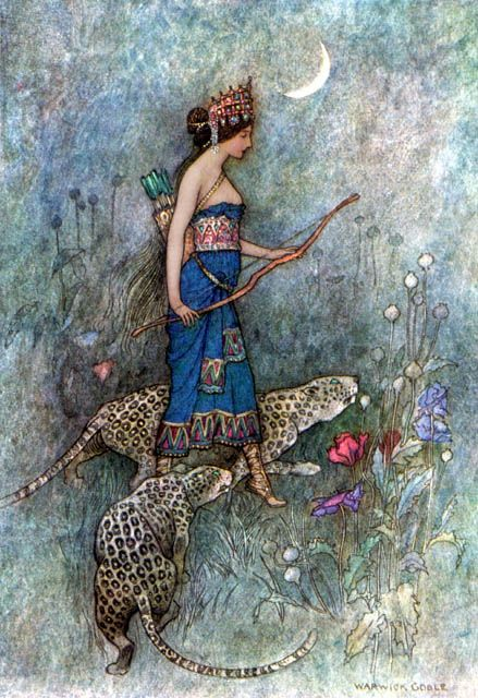 Zenobia, Queen of Palmyria  Warwick Goble was an illustrator of children's books. He specialized in Japanese and Indian themes.