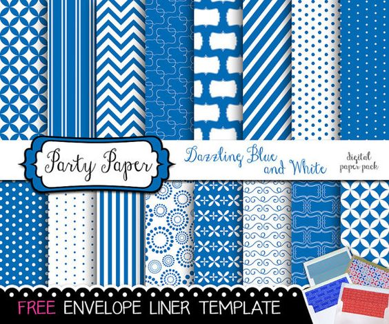 FREE ENVELOPE LINER Template  Digital Paper Dazzling by Simpleish, $3.95