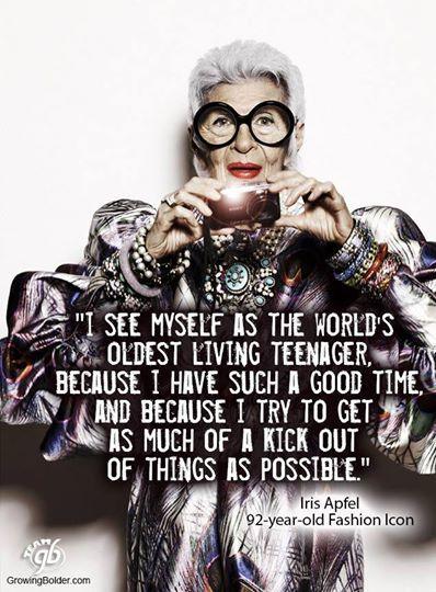Iris Apfel, 92-year-old fashion icon