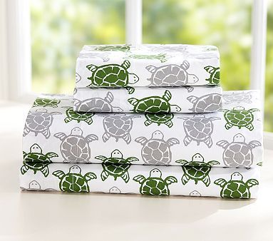 Preppy Turtle Sheet Set and Tie-Dyed Sheet Set for my bed with a bid pink comforter and pink blankets and I'm set!! Oh, throw in a stuffed turtle and a few stuffed pigs - yeehaw!