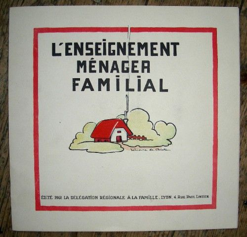 Liliane de Christen, l'enseignement ménager familial,illustrateur,illustration,édition: