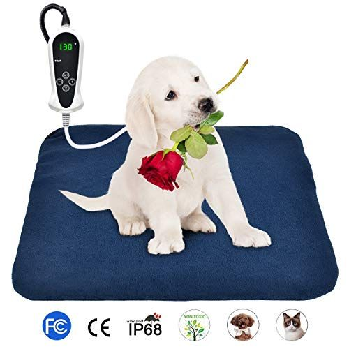 Bohofarm Pvc Pet Heating Pad Heated Pet Bed Mats For Dogs 18 X 18inch Electric Cat Heating Pad Waterproof Adjustable Heated Pet Beds Pet Heating Pad Dog In Heat