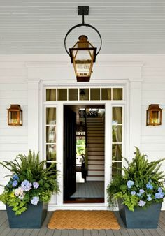 Curb appeal on a front porch