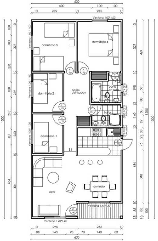 Diseno De Cabana De 78 Metros Cuadrados Planos De Casas Medidas Diseno De Cabana Planos De Casas