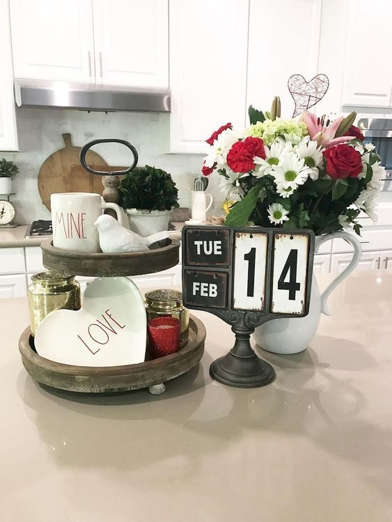 100 Adorable Diy Valentine S Day Decor Ideas That Ll Make Your Home Look Cute Romantic Hike N Dip Rustic Valentine Decor Farmhouse Valentine Decor Valentines Day Decor Rustic