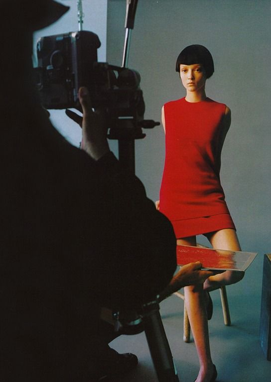 """""""The Downtown Scene,"""" featuring Audrey Marnay, photographed by Steven Meisel for Vogue."""