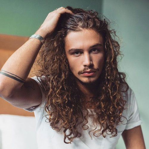 40 Best Perm Hairstyles For Men 2020 Styles In 2020 Long Hair Styles Curly Hair Styles Long Hair Styles Men