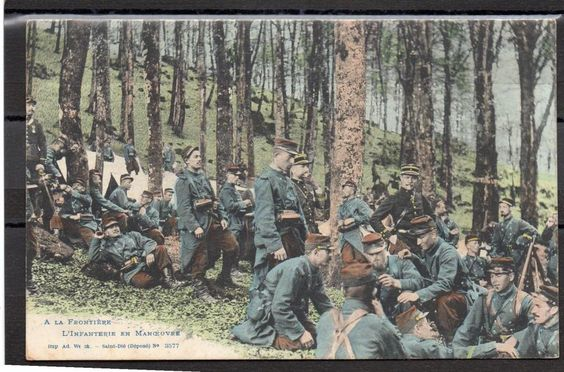 WWI, French Infantry at the front.