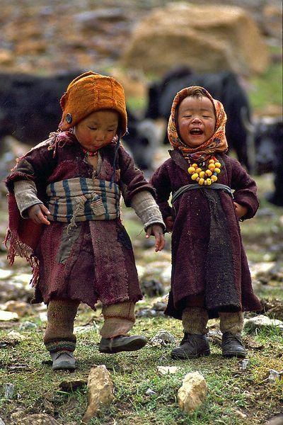 Tibet mountain children