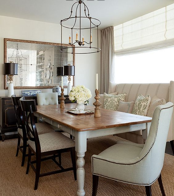 Traditional Dining Rooms Tufted Dining Chairs And Buffet