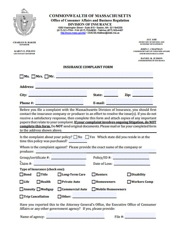 insurance-commissioner-complaints-by-state-wisconsin-part2of3 - consumer complaint form