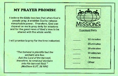 Missionary Prayer Card Template Fresh Sample Faith Promise Mitment Or Pledge Card Prayer Cards Card Template Words