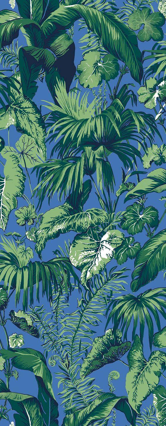 Des papiers peints d'ete : Papier peint Pervenche, Madeleine Castaing (Edmond Petit).