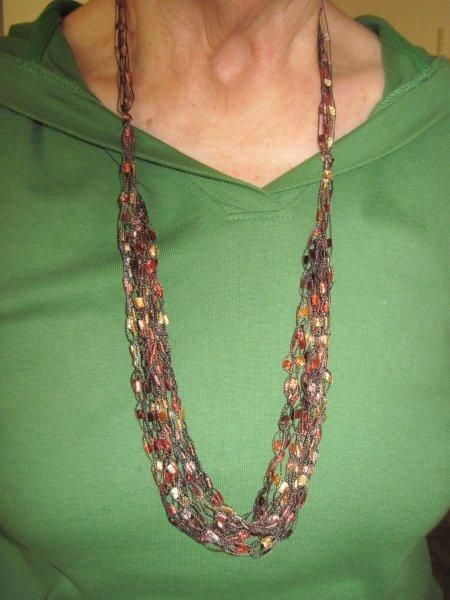 Ladder Yarns Necklaces Free Pattern yarn necklace ...