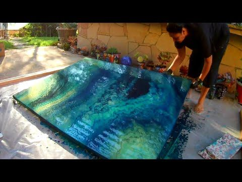 Gorgon S Grotto Massive 48x60 Canvas Multiple Straightpours In