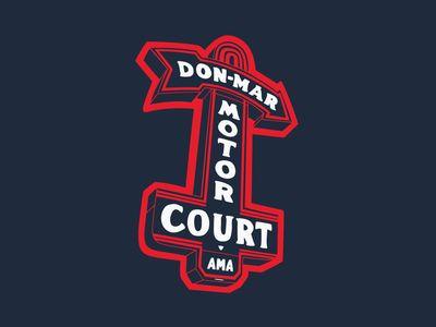 Don-Mar Motor Court  #logo #design #inspiration