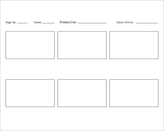 Sample Storyboard Template   Free Documents Download In Pdf