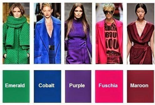 hermosos los colores de la tendencia otoño invierno 2015