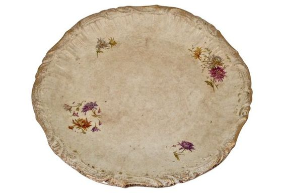 18th-C. French Chantilly Cake Plate