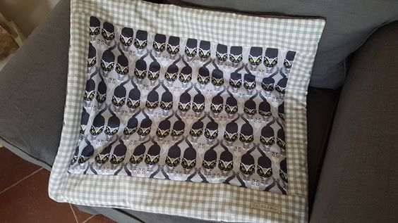 """Katze: Schlafplätze - gefütterte Katzendecke """"Katz & Maus"""" - ein…"""