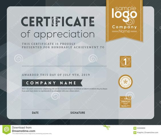 Modern Certificate Frame Design Template Stock Vector   Image   Military  Certificate Of Appreciation Template  Military Certificate Of Appreciation Template