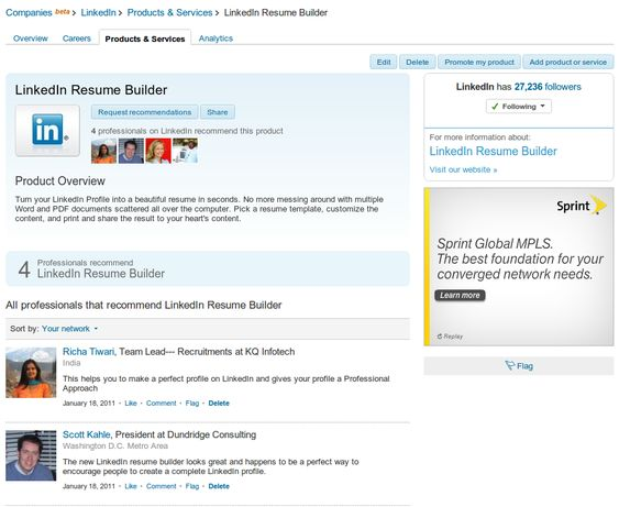 Resume Builder Faites un CV de votre profil LinkedIn - linked in on resume