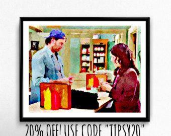 Kaffee in LUKES Gilmore Girls Kunstdruck Rory von TipsyRiver